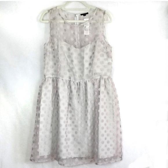 Sisley Dresses & Skirts - Sisley Dress Gray Polka Dot Size L NWT